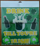 St. Patrick het Gel van het Venster van de Dag TPR klampt zich Sticker vast