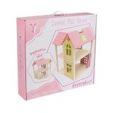 Fingere la villa di legno di emulazione del Dollhouse del gioco con mobilia per i capretti