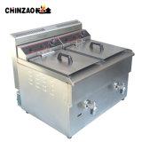 double friteuse commerciale de gaz d'acier inoxydable du réservoir 34L