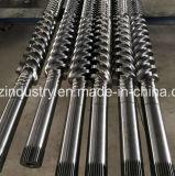 PVC管のプロフィールシートのパネルのための平行対ねじバレル
