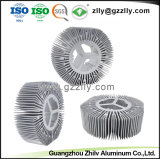 Dissipatori di calore di alluminio dell'aletta di Pin del tubo di alluminio di 1000 serie T3-T5 per materiale da costruzione