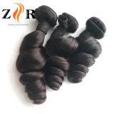 7A加工されていないバージンのインドの緩い波の人間の毛髪の製品