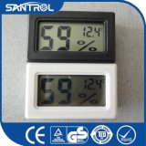 Thermomètre noir et blanc d'hygromètre de Digitals