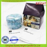 Venta al por mayor de la vela del estaño de la cera de la soja del uso del masaje sin derecho antidumping