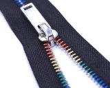 Zipper do metal com dentes/fita colorida do preto/qualidade superior