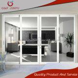 Metal de la aleación de aluminio que resbala puertas del panel con el vidrio doble (JFS-8021)