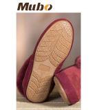 La zalea puramente hecha a mano del tobillo calza los zapatos de interior de los deslizadores