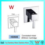 De sanitaire Tapkraan van de Douche van het Koper van de Badkamers van de Goede Kwaliteit van het Watermerk van Waren (HD505)