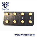 Emittente di disturbo tenuta in mano di frequenza ultraelevata di VHF di WiFi delle 8 emittenti di disturbo dell'antenna e del segnale del telefono di 3G 4glte 4gwimax