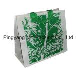 Saco de plástico tecido PP impresso, saco tecido PP da promoção do saco do plástico