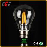 LEDの球根A60 E27 6W 220VエジソンLEDのフィラメントの球根ライトLED蝋燭ライト