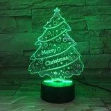 Kerstbomen van de Spreker van Bluetooth van de acryl LEIDENE van de Verlichting van Materialen Slimme Lamp van de Nacht 3D Lichte