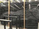 Il legno nero Polished naturale venato il marmo per le mattonelle parete/del pavimento