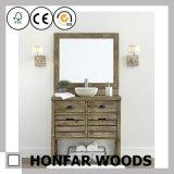 Blocco per grafici di legno dello specchio della stanza da bagno di effetto dell'annata per l'hotel degli S.U.A.