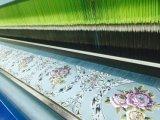 тканей софы жаккарда синеля 2016 100% листовых золот ткани полиэфира красных
