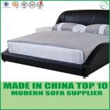 Кожи мебели Foshan кровать домашней деревянная двойная