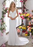 Lace Suite Quarto Beach Country Spandex vestido de noiva Lb6853