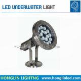 La luz al aire libre IP68 impermeabiliza la lámpara subacuática de 6W LED