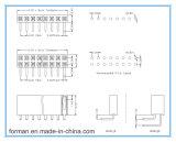 Linha Doule Fábrica do conector de 16 pinos 2.00mm Tipo de DIP Cabeçalho Fêmea