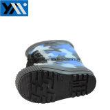 Chaussures de bébé à plat Camo avec dentelle d'impression jusqu'chaussures étanches en PVC de la moitié des bottes de pluie