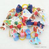 Accessori svegli delle decorazioni dei capelli di cane della fascia elastica di Bowtie dell'animale domestico di natale