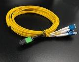 MPO de fibra óptica LC Duplex LSZH Cable de conexión de red de área local.
