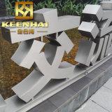 Sinais dourados revestidos da letra do aço inoxidável do metal da cor de PVD para anunciar