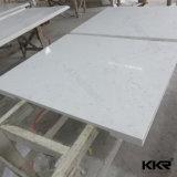 Cortados em pedra de quartzo branca Sparkle Bancada de cozinha