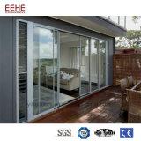 Deuren van het Glas van het Aluminium van het balkon de Glijdende, Binnenlandse Schuifdeuren met Blind