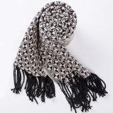 Gostaria de Caxemira mulheres Classic verificado a impressão de inverno em malha lenço Xale (SP303)