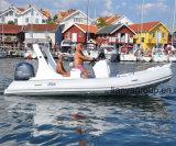 Bateaux gonflables de côte extraterritoriale de bateau de Liya 5.8meter 19feet avec l'engine