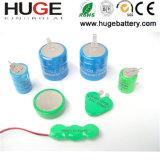 9V 160mAh Ni-mh nachladbare Batterie der Tastenzelle