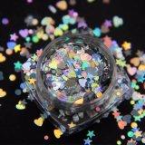 사탕 색깔 혼합 크기 둥근 반짝임, 3D 못 예술 훈장