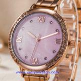 女性の習慣は見る日本水晶動き(WY-17002B)のステンレス鋼の腕時計を