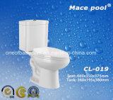 결박 300mm를 가진 경쟁적인 위생 상품 2 조각 화장실등경 에서 (CL-019)