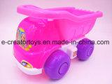 Automobile della spiaggia con l'insieme della caldaia 7-Piece del barilotto dei giocattoli della spiaggia