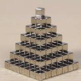 Níquel que cubre el imán magnético del neodimio 216PCS del cubo 5m m