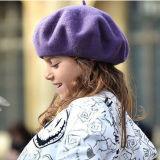 Kind-Mädchen-Dame-Wollen wärmen Angora-Winter-Herbst-Sprung-Schutzkappen-Hut-Barett (HW805)