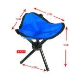 凹面凸の屋外の青い携帯用折りたたみ椅子