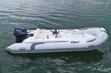 La vitesse folâtre le bateau gonflable rigide de bateau de pêche de fibre de verre de bateau de côte