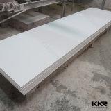 brame extérieure solide acrylique blanche de partie supérieure du comptoir de glacier de 30mm