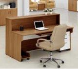 Tabella di legno solida della segretaria del cartone per scatole di MFC dello scrittorio di ricezione con il contatore