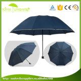 Manual de venda quente aberto 3 Dobre Umbrella com a Tipping
