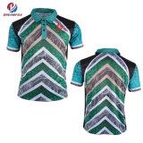 남자를 위한 t-셔츠 뉴질랜드 골프 승화 폴로 셔츠가 도매 관례에 의하여
