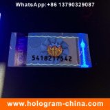 Etiqueta engomada de sellado caliente del holograma adhesivo de la impresión de la fibra