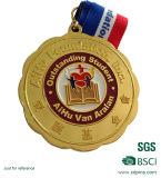 De verwijderde Lopende Medaille van het Metaal van het Email met Overdracht Afgedrukt Sleutelkoord