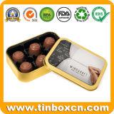 Caja de embalaje de alimentos Lata rectangular de metal, latas de Chocolate