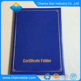 Kundenspezifisches Folien-Firmenzeichen, das Diplom-Faltblatt-Staffelung-Grad-Halter stempelt