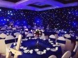 4X6mの黒いカーテン党または結婚式のイベントのための青いライトLED星のカーテン