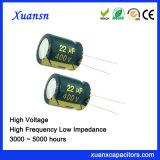 22UF 400V de Elektrolytische Condensator van het Aluminium voor Lader